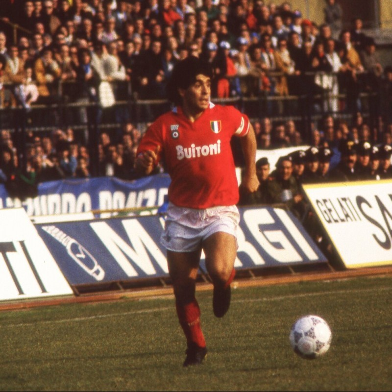 Maradona's Napoli Match-Issued Signed Shirt, 1986/87