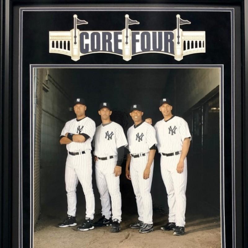 New York Yankees Core 4 World Series Championship Rings Shadowbox