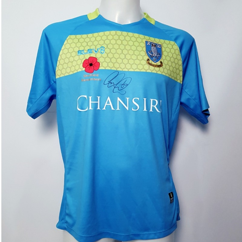 Joe Wildsmith's Sheffield Wednesday Worn and Signed Poppy Home Shirt