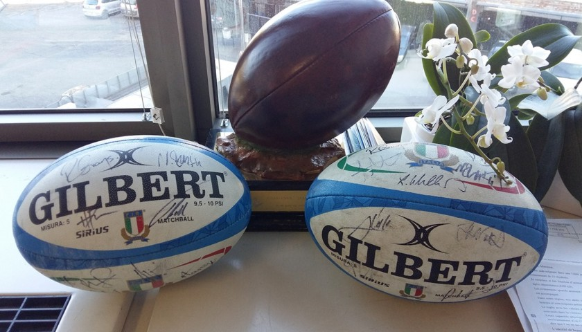 Official FIR 2018/19 Rugby Ball - Signed by the Welsh Players