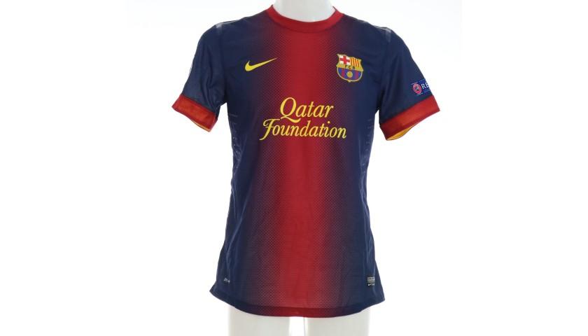 Pedro's Barcelona Match Shirt, UCL 2012/13