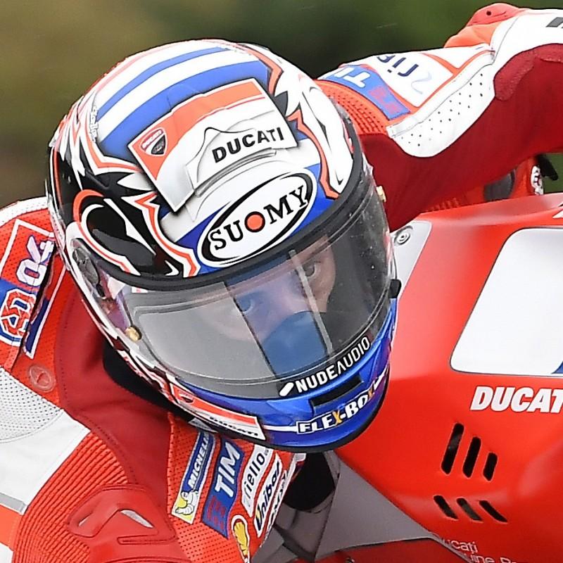 Andrea Dovizioso's Worn and Signed Visor, 2017 MotoGP