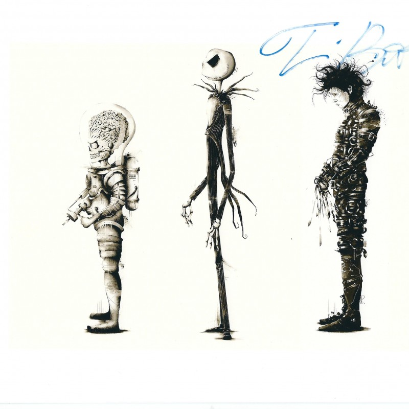 Tim Burton hand signed photo