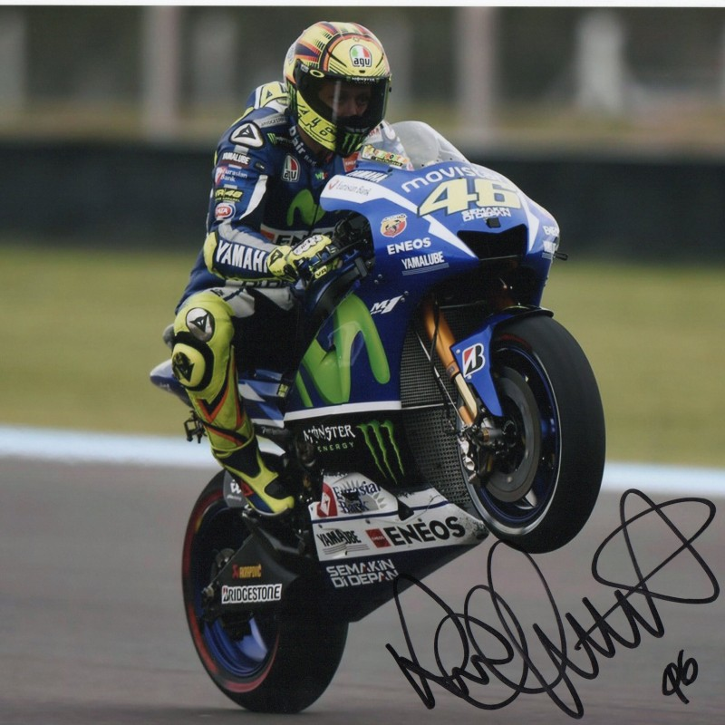 Valentino Rossi Signed Photograph - 20x25cm