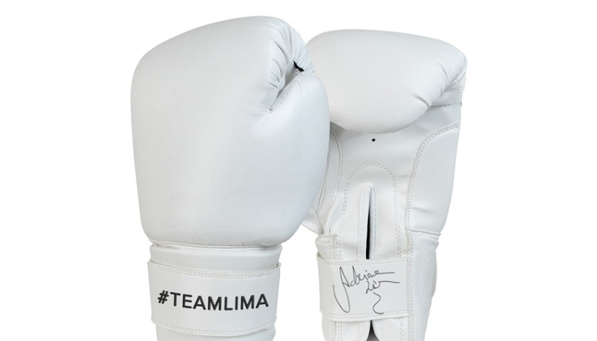 Personalized Pair of Adriana Lima's Used Boxing Gloves