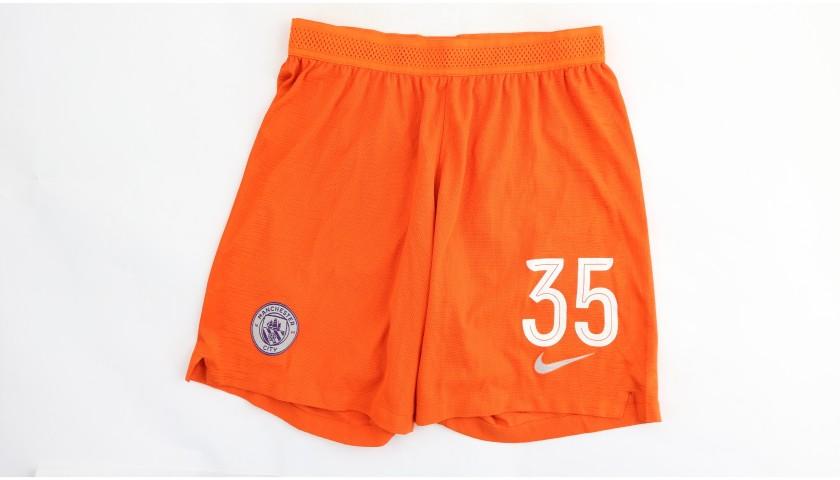 Zinchenko's Manchester City Match Shorts, Champions League 2018/19
