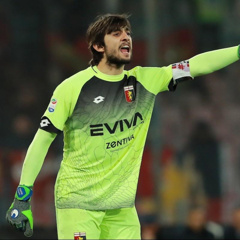 Perin's Genoa Worn Shirt, Serie A 2017/18