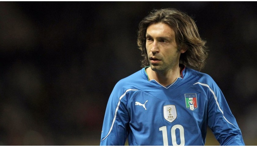 Italy Training Shirt, 2010 - Signed by Andrea Pirlo