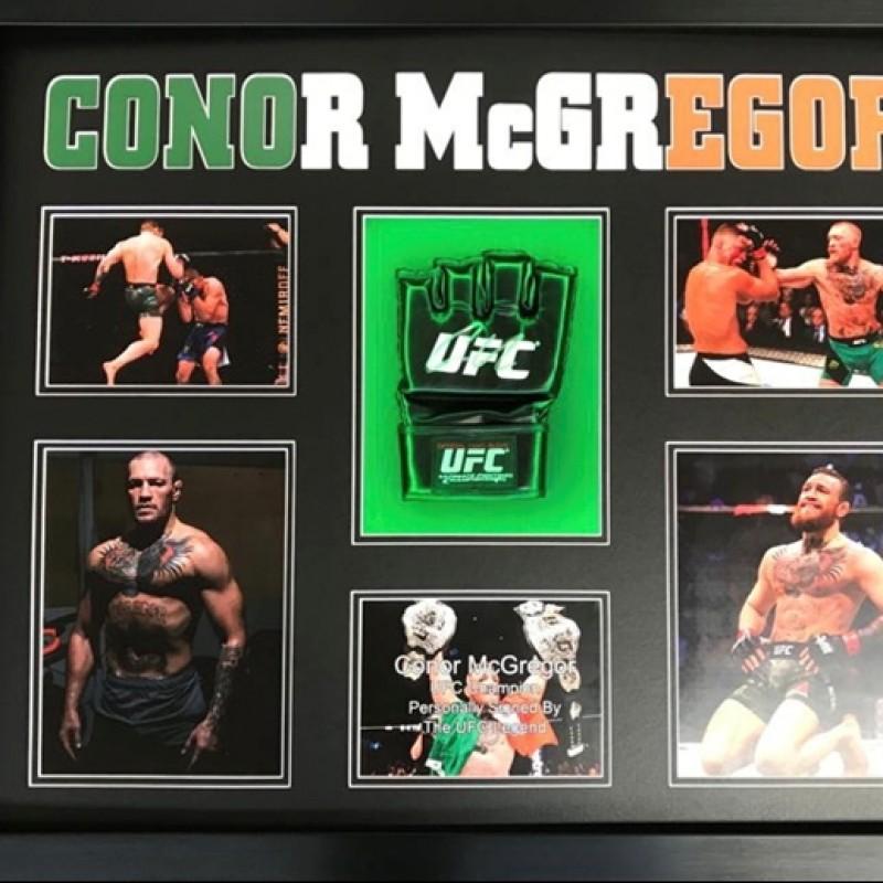 Conor McGregor Signed and Framed Glove Display