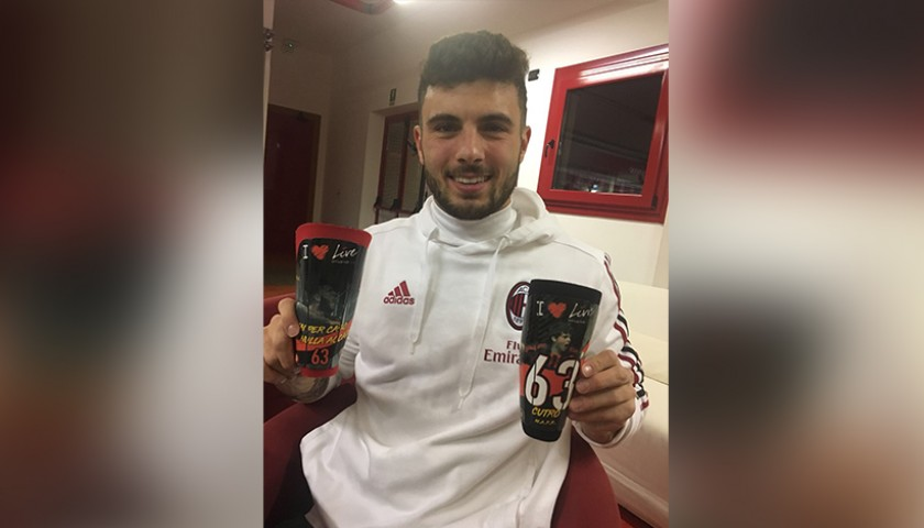 Cutrone's Milan-Inter Match-Issued Shin Guards, TIM Cup 2017