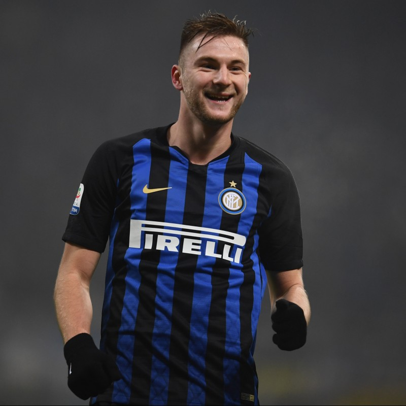 Skriniar's Official Inter Signed Shirt, 2018/19