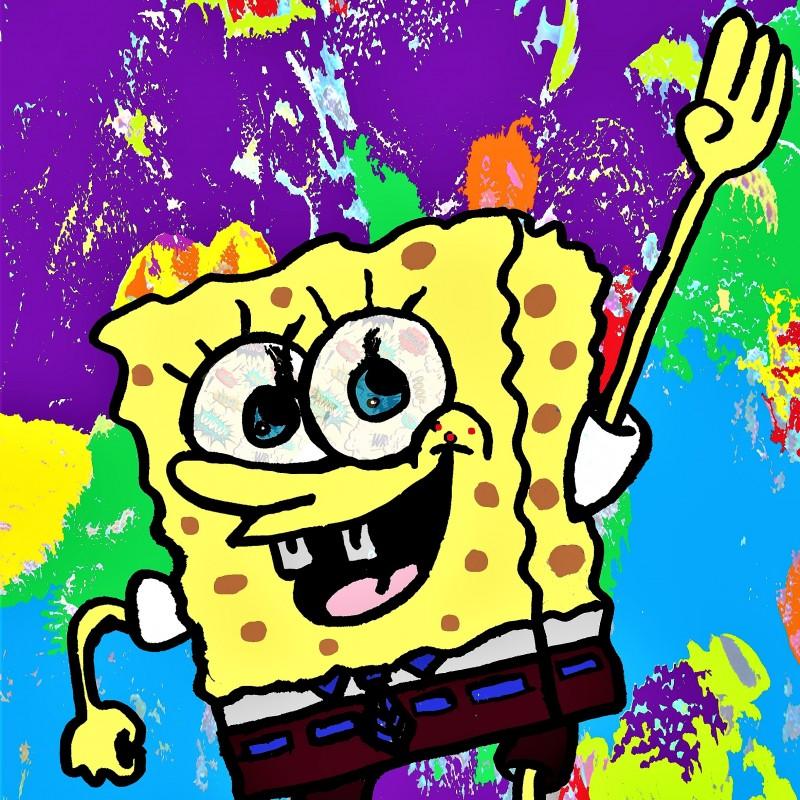 """""""Spongebob"""" Original Limited Edition Board by G.Karloff"""