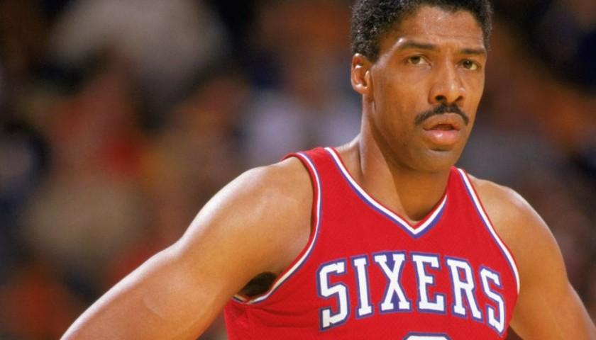 934bff01e1d7 Philadelphia 76ers Custom Basketball Jersey Signed by Julius