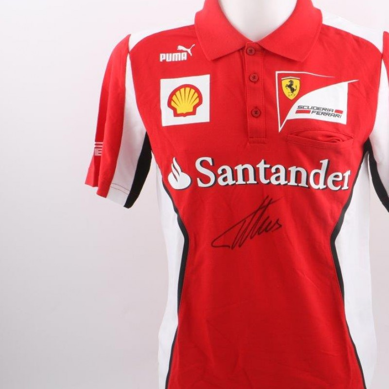 Official Ferrari shirt, signed by Alonso