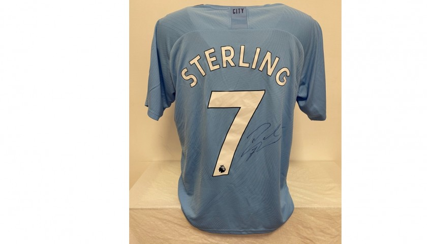 Sterling's Official Manchester City Signed Shirt, 2019/20