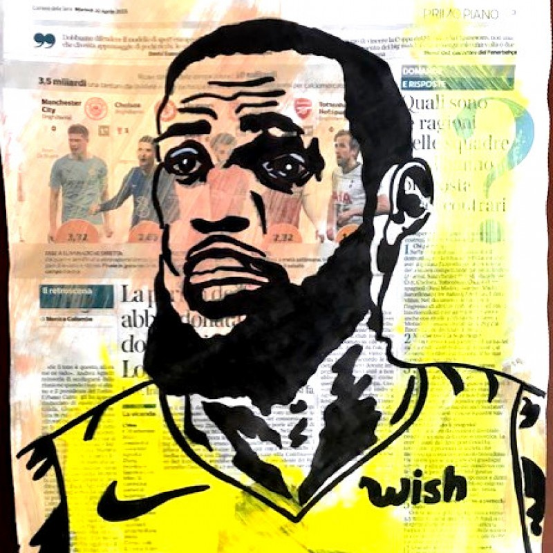 """LeBron James"" Original Board by Riccardo Penati"