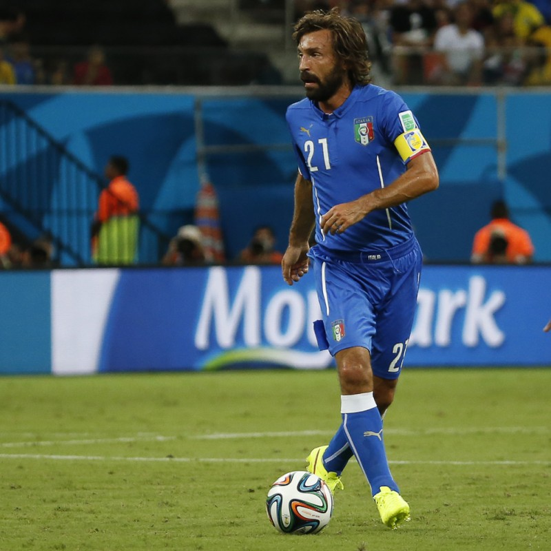 Pirlo's Italy Match-Issue/Worn Shirt, World Cup 2014
