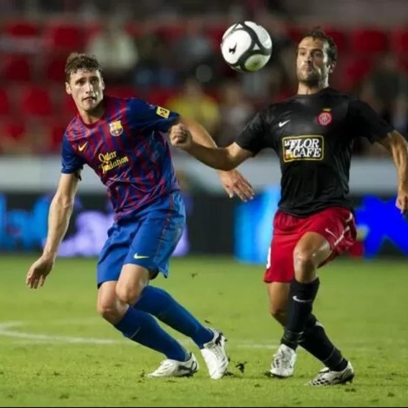 Sergi Gomez's Barcelona Match Shirt, 2011/12