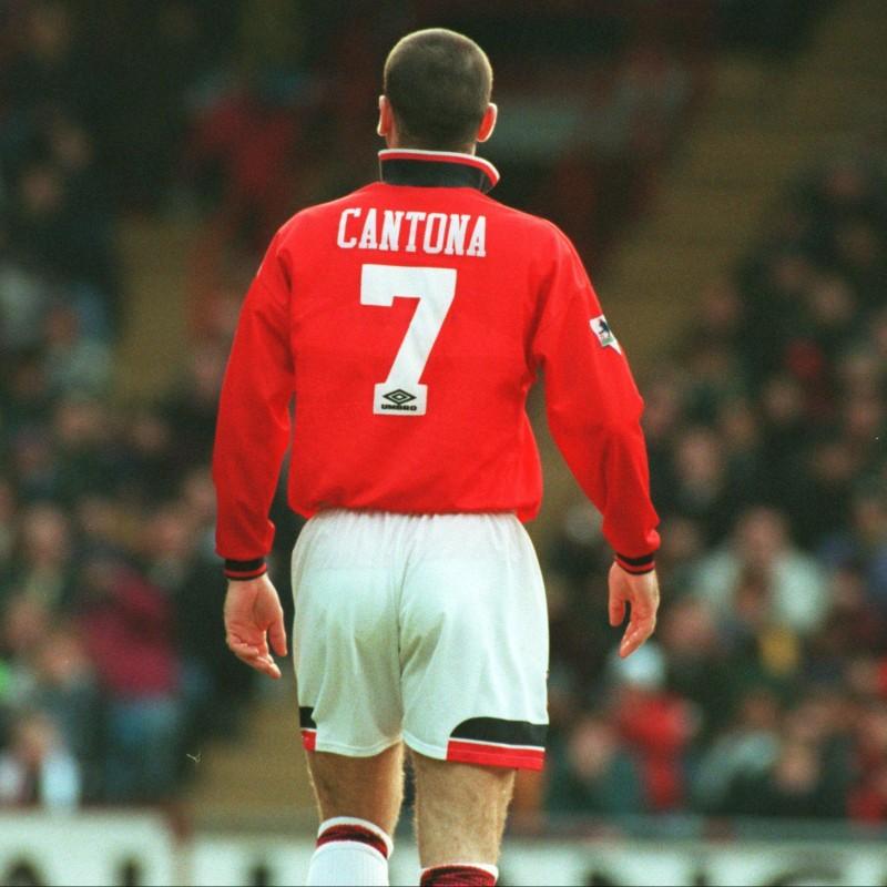 Manchester United Retro Shirt, 1973 - Signed by Cantona