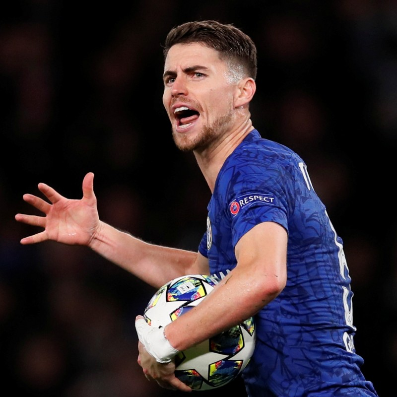 Jorginho's Chelsea Signed Match Shirt, UCL 2019/20