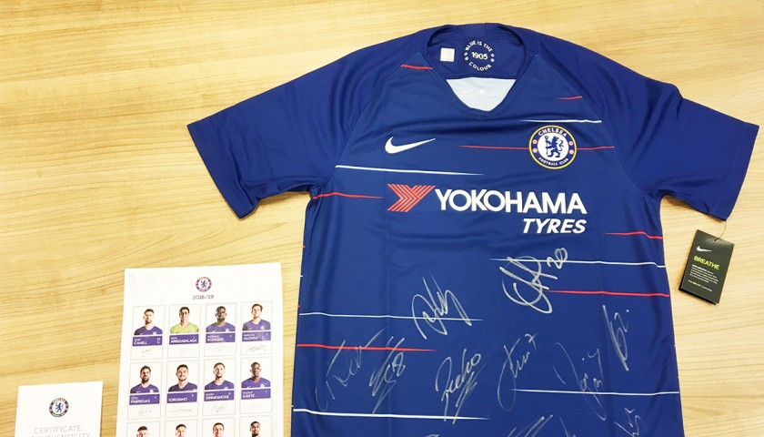 Official Chelsea FC Shirt Signed by the Team