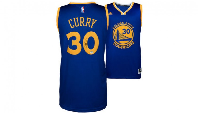 innovative design be522 4650c Stephen Curry Hand Signed Golden State Warriors Jersey - CharityStars