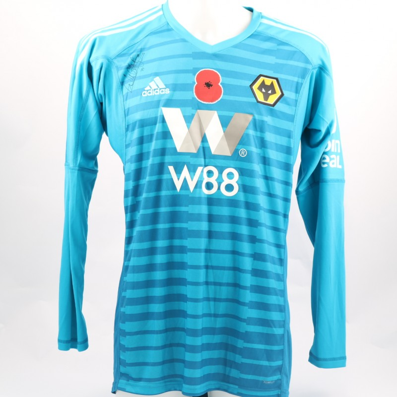 Norris' Wolves FC Issued and Signed Poppy Shirt