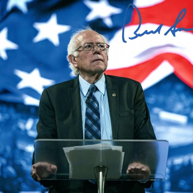 Sen. Bernie Sanders Hand Signed Photograph