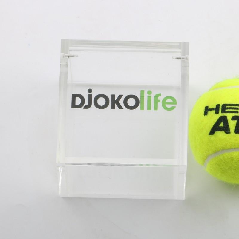 Tennis ball signed by Novak Djokovic