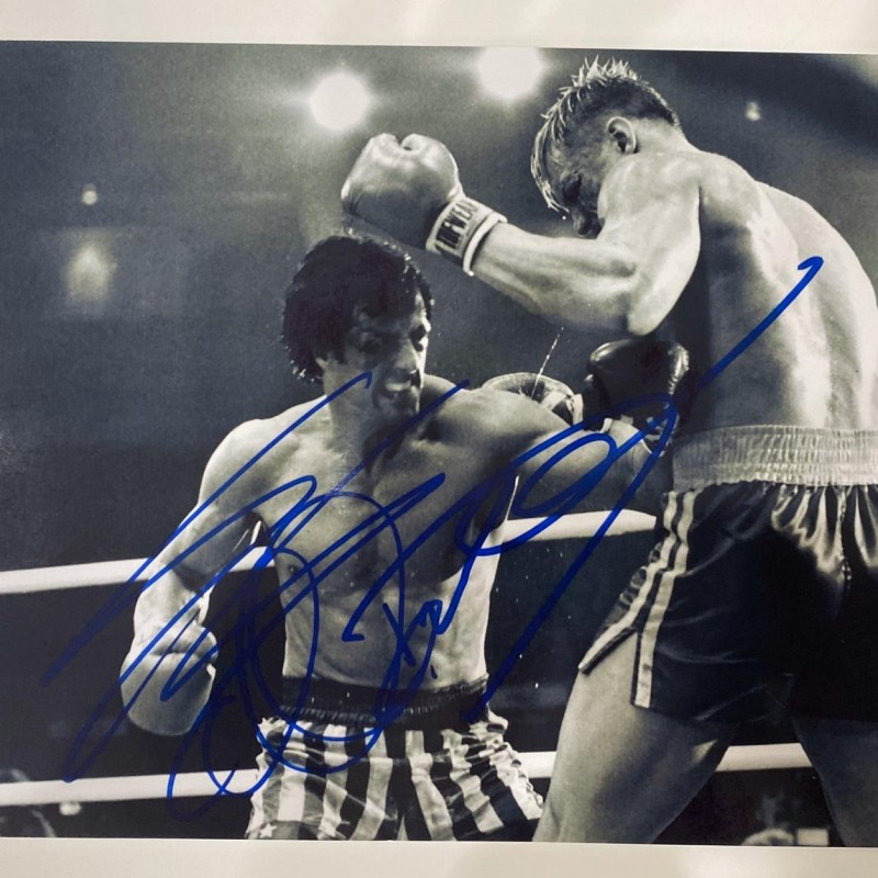 Photograph Signed by Sylvester Stallone