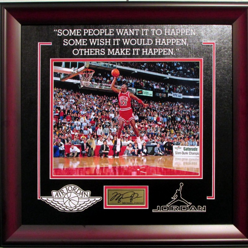 Michael Jordan Chicago Bulls Photograph with Quote