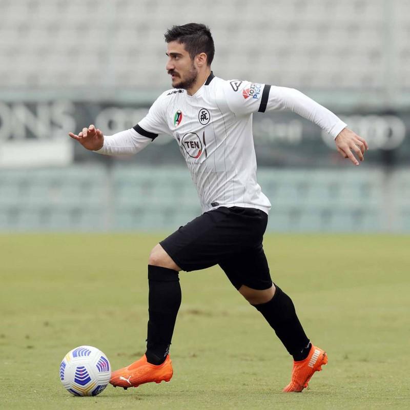 Acampora's Worn Match Shirt, Spezia-Cagliari 2021