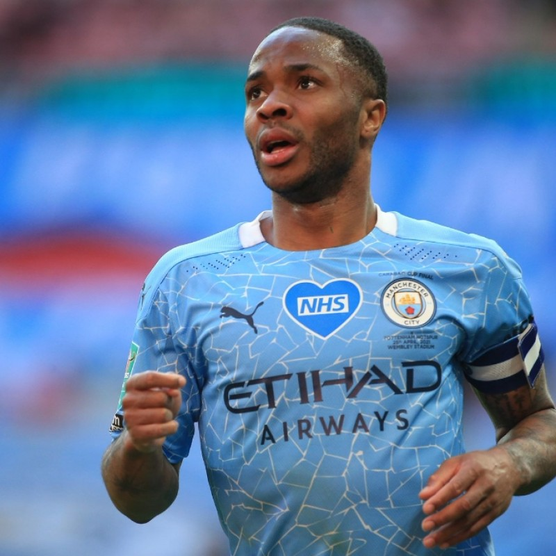 Sterling's Stadium-Issued Signed Shirt, Carabao Cup Final