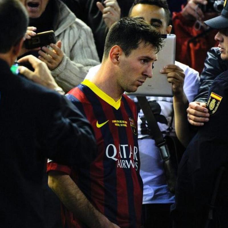 Messi's Barcelona Signed Match Shirt, Copa del Rey 2014 Final