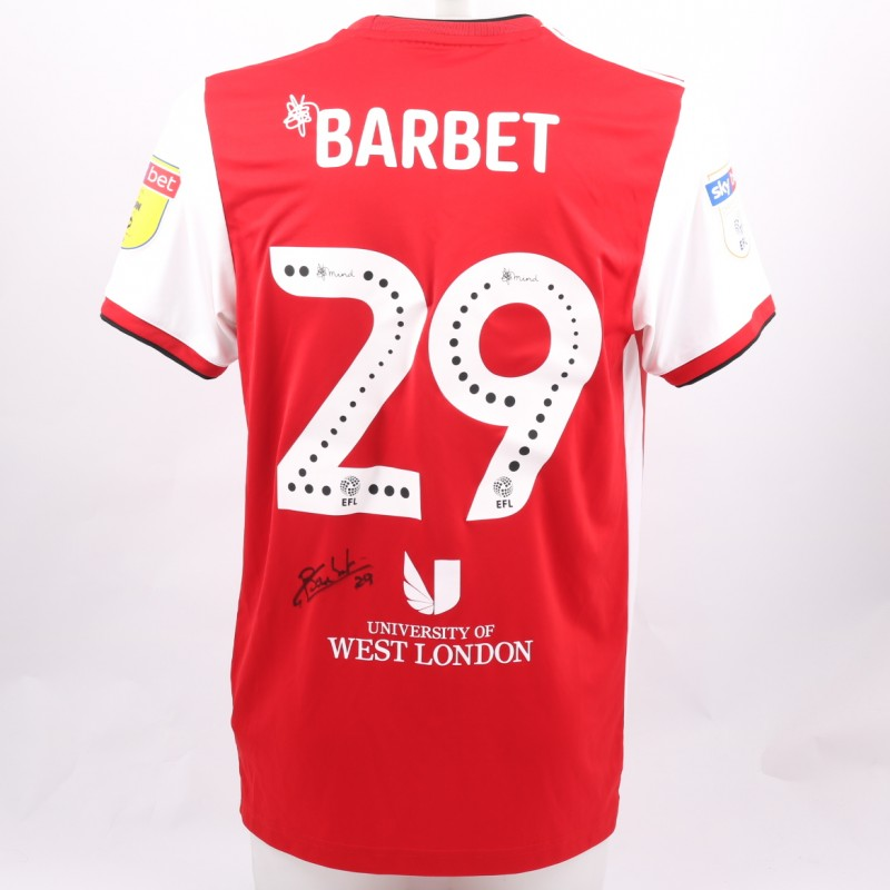 Barbet's Brentford Worn and Signed Poppy Shirt