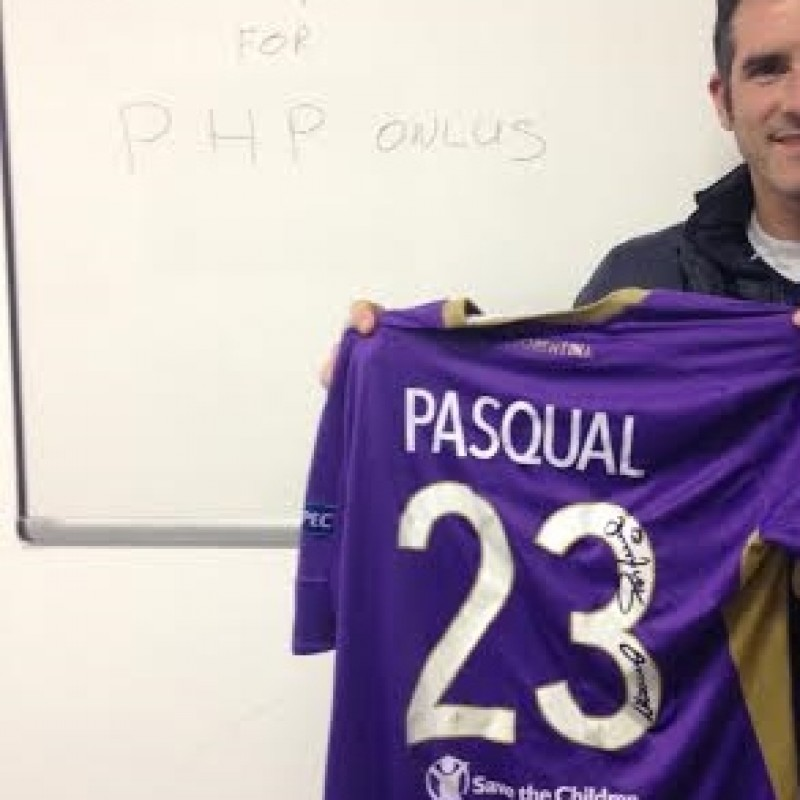 Pasqual Fiorentina match issued/worn shirt, Europa League 2014/2015 - signed