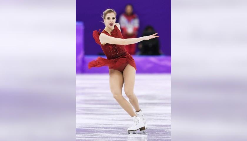Shirt Worn by Carolina Kostner at Pyeongchang 2018 - Signed