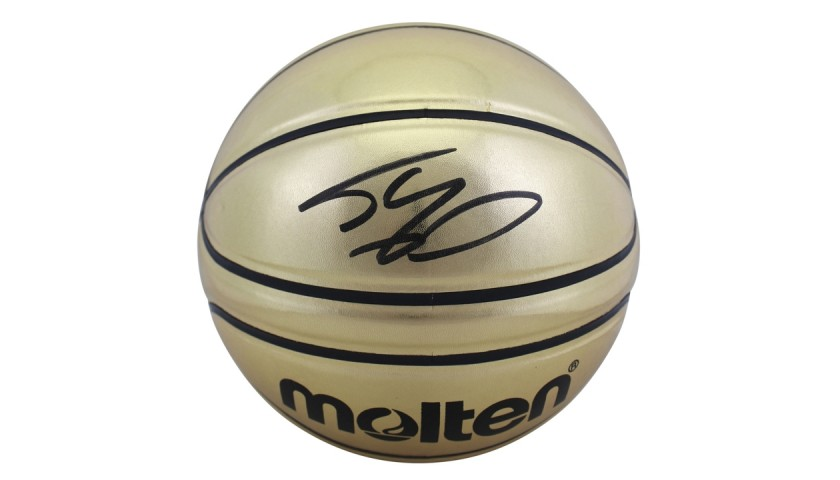 Shaquille O'Neal Signed Molten Gold Basketball
