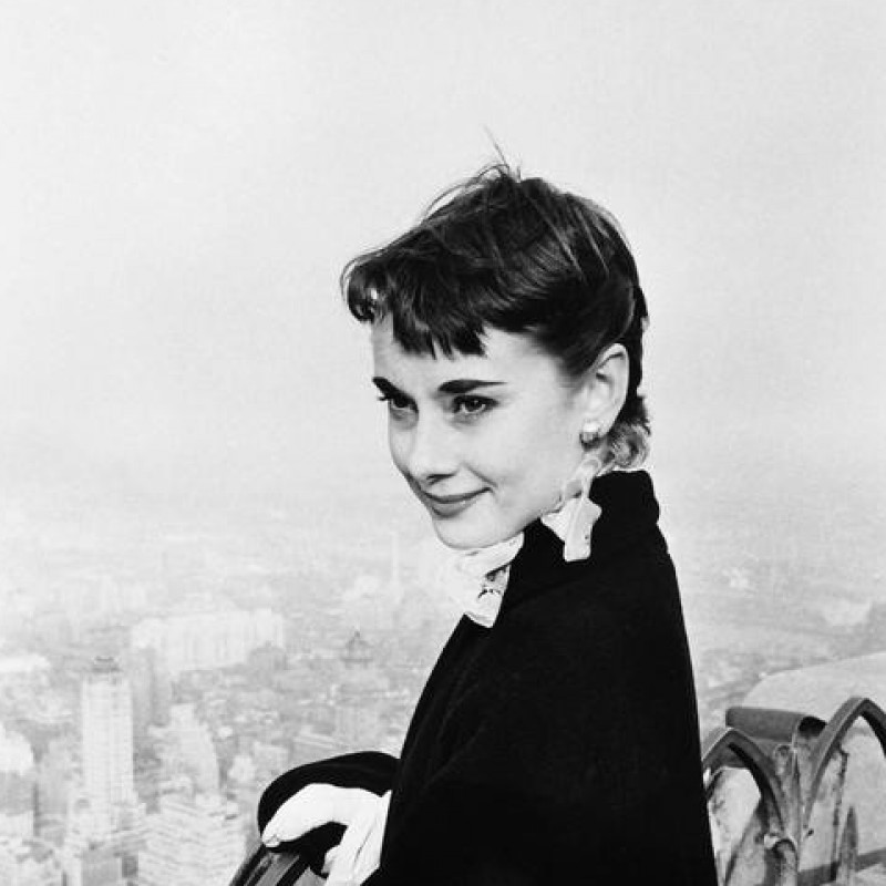 Audrey Hepburn in New York by George Douglas