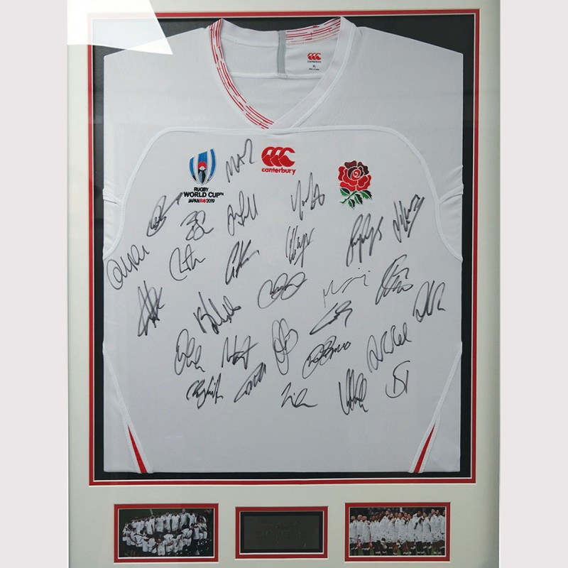 England 2019 RWC Squad Signed Home Jersey