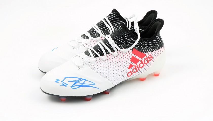 Scarpe Adidas X 17.1 preparate e autografate da Padelli