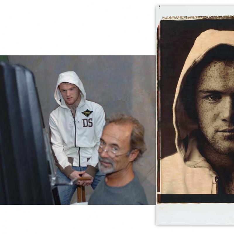 Wayne Rooney Signed Unique Giant Polaroid Portrait Print