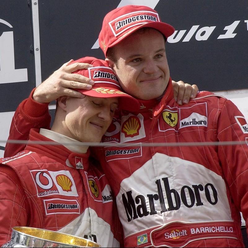 Ferrari Cap - Signed by Schumacher and Barrichello