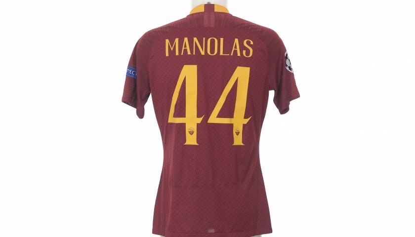 Manolas' Worn Shirt, Porto-Roma CL 18/19