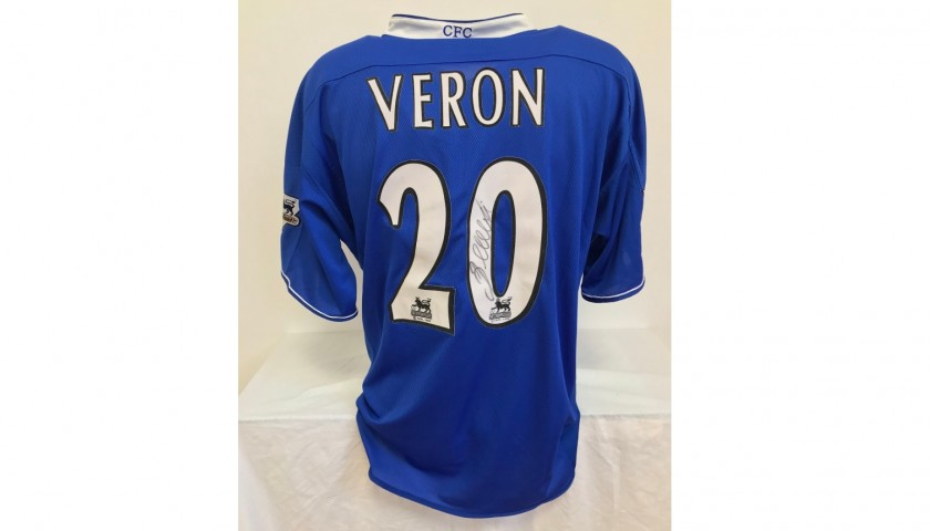 Veron's Official Chelsea Shirt, 2003/04 - Signed