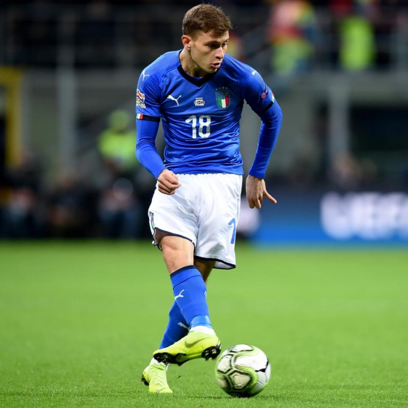 Barella's Match-Issue/Worn Kit, Italy-Portugal 2018