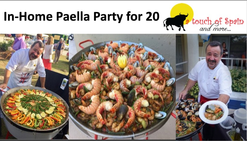 Paella Party for 20 from Chef Gianni