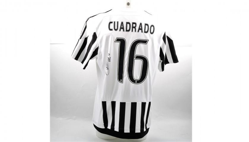 Signed Official Cuadrado 2015/16 Juventus Shirt