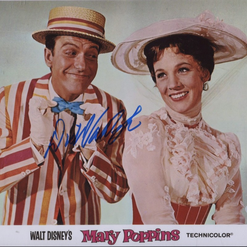 """""""Mary Poppins"""" Photograph Signed by Dick Van Dyke"""