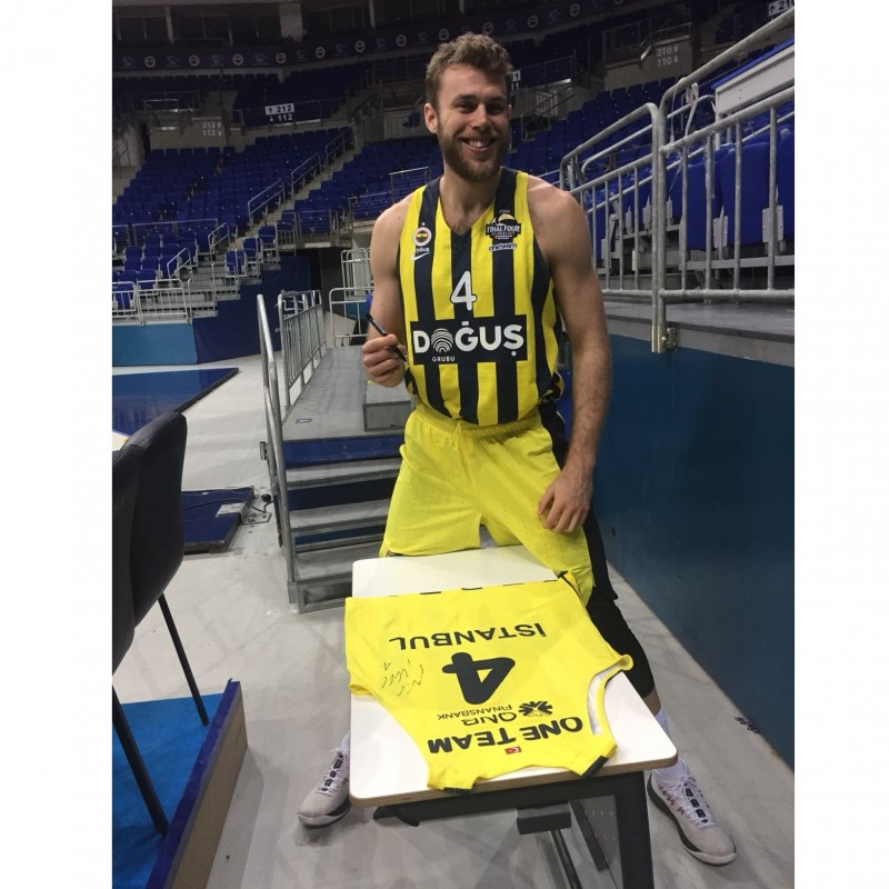 Issued/Worn Fenerbahce Jersey Signed by Melli, 2017/18 Turkish Airlines EuroLeague